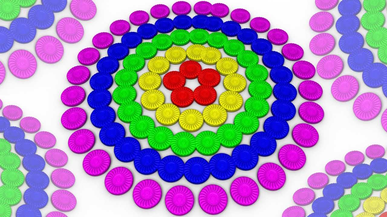 Circle Shapes for Kids Learn 3D Shapes Patterns for Kindergarten ...