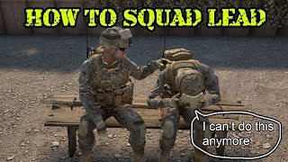 If you have never had squad lead before, this video is a good place...