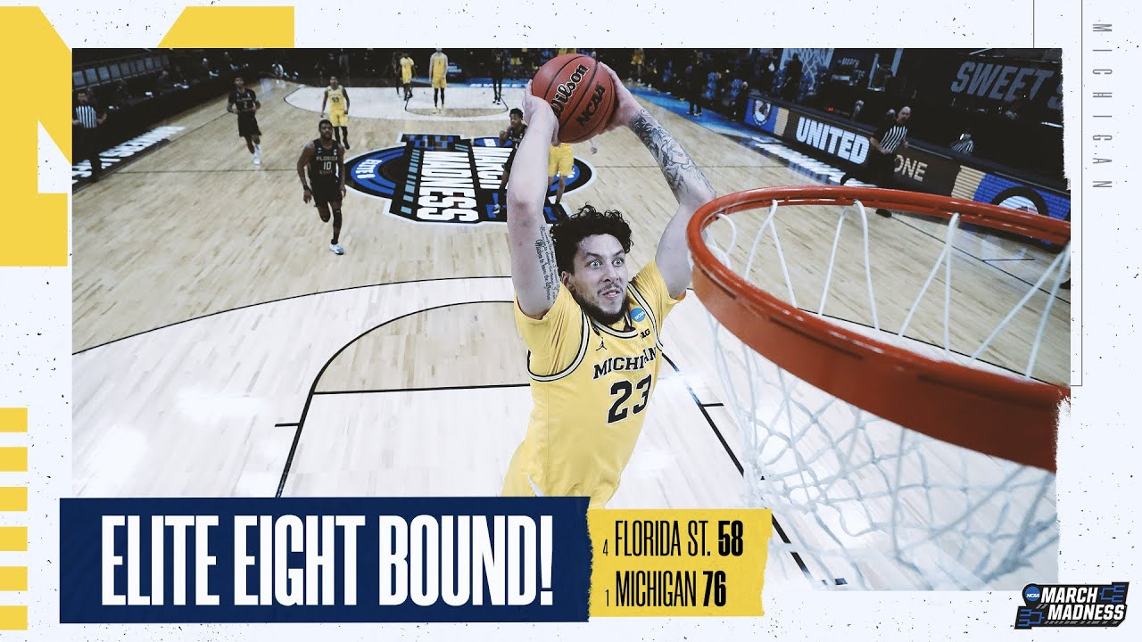 Michigan vs. Florida State - Sweet 16 NCAA tournament extended highlights