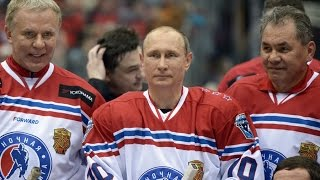 В.В. Путин забил 8 голов в гала матче Ночной Хоккейной Лиги 2015