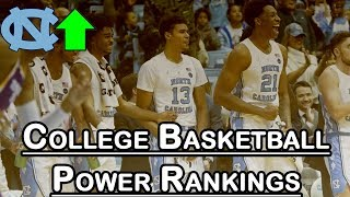 College Basketball Power Rankings: UNC Back In