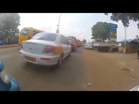 Driving to Kumasi, Ghana
