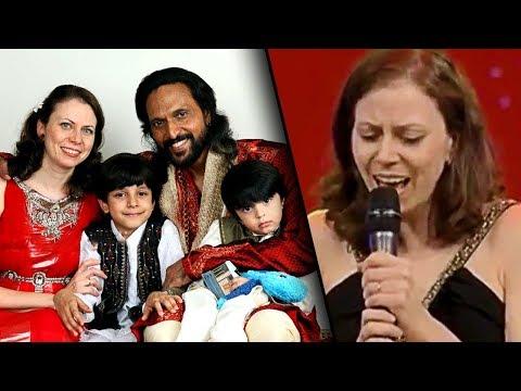 Babu Antony''s Russian wife sings Malayalam Melody | Evgeniya, Mazhavil Manorama Indian Voice Junior