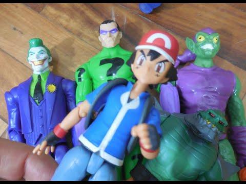 Pokemon Ash Pikachu X Coringa Joker Crocodilo Croc Duende Verde Green Goblin Charada Toys Kids: https://www.youtube.com/user/99239721rg http://mundofeliz100.blogspot.com.br/  Pokémon Pokemon / #pokémon #pokemon . Papai RG comprou o / os boneco / bonecos / brinquedo / brinquedos / Toys /  Toy / Juguetes /  Juguete / Kids Homem Aranha,  Hulk Marvel Avengers,  Harry Potter o bruxo / bruxinho mais famoso do mundo do Filme,  o pirata Jack Sparrow do filme  Piratas do Caribe , a Rainha Má / Evil Queen  / Disney do filme Branca de Neve e os sete 7 anões,  Enderman do jogo / game  Minecraft, o boneco assassino  Chucky do filme O Boneco Assassino, vinyl figure, , o boneco Freddy Krueger do filme A Hora do Pesadelo,  o boneco  Jason do filme Sexta-Feira 13, Pokemon, Pikachu, Ash, o Pikachu da Tomy Trainer Figure, e o Abominável / Abomination inimigo do Hulk da  Marvel Select.  Papai RG abriu p Ash e o Pikachu, e houve um sensacional luta / briga / combate contra / versus / vs. o Coringa / Joker / Crocodilo / Killer Croc / Duende Verde / Green Goblin / e o Charada da Marvel Avengers Vingadores Matel T.    História / sinopse / origem do Pokemon / Ash e Picachu!    No anime, Ash Ketchum é um garoto da cidade de Pallet que, ao completar 10 anos, se torna um treinador pokémon. Caracteriza-se como um garoto ingênuo, tolo, aventureiro e teimoso. No começo da jornada, ao chegar no laboratório do Professor Carvalho, ganha seu primeiro pokémon,