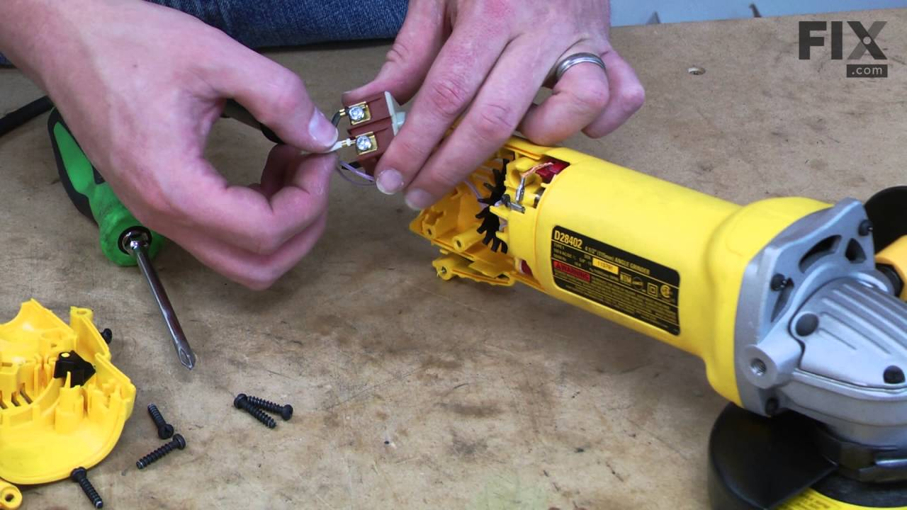 DeWALT Grinder Repair – How to replace the Switch on
