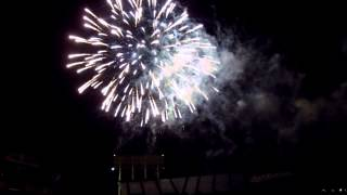 July 3rd fireworks display at the O.co Coliseum