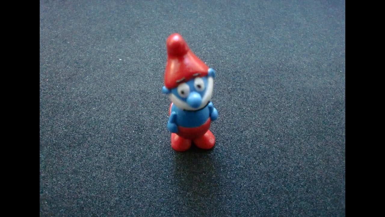 fimo papa schlumpf smurf figur modellieranleitung hd. Black Bedroom Furniture Sets. Home Design Ideas