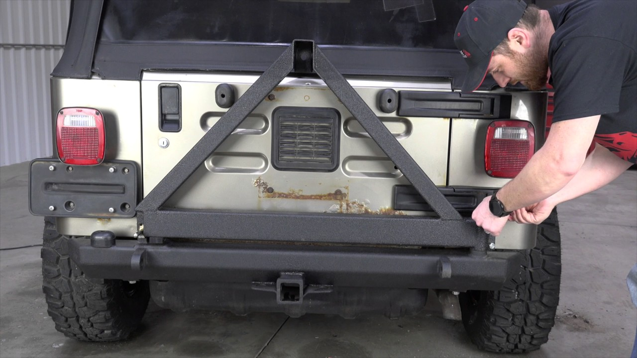 FB22017 YJ/TJ Wrangler Rear Bumper With Tire Carrier Installation Guide