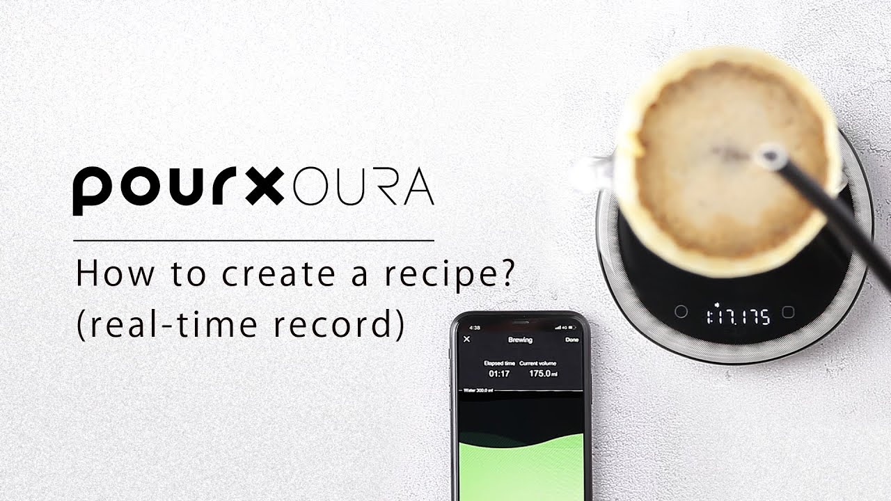 OURA APP:How to create a recipe  (real-time record)