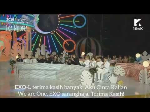 (Indo Sub) Artist of the Year - EXO speech