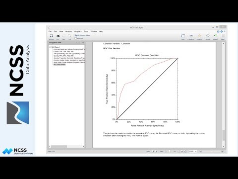 ROC Curves and Cutoff Analysis in NCSS
