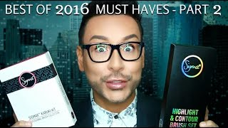BEST OF BEAUTY PRODUCTS 2016 | Best Must Have Pro Makeup Brushes Pt 2  - mathias4makeup