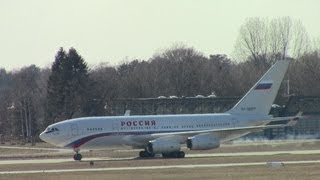 ✈ President of Russia with Ilyushin 96 + Aeroflot A330 - Landing at Hannover Airport [HD]