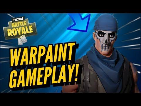 WARPAINT Skin Gameplay! In Fortnite Battle Royale..