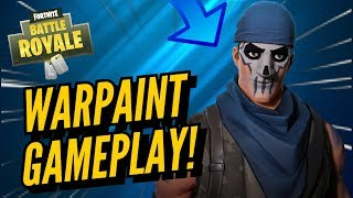 WARPAINT Skin Gameplay! In Fortnite Battle Royale..