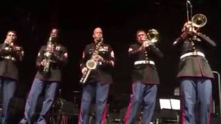 Parris Island Marine band dirty blues brass band