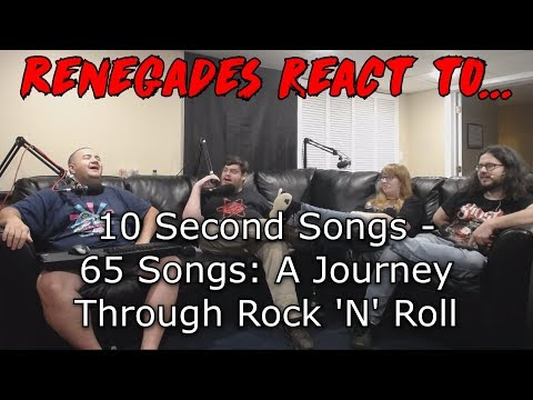 Renegades React to... 10 Second Songs - 65 Songs: A Journey Through Rock 'N' Roll