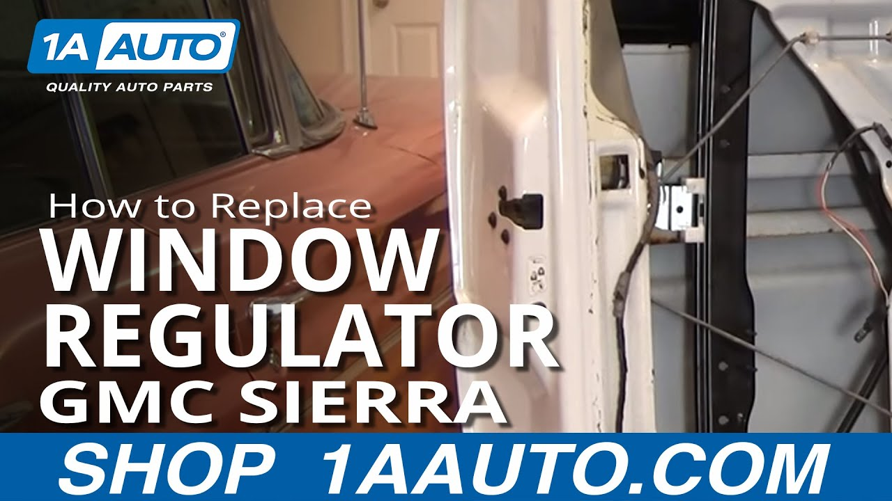 How to install repair replace rear power window regulator for 2001 chevy silverado window motor
