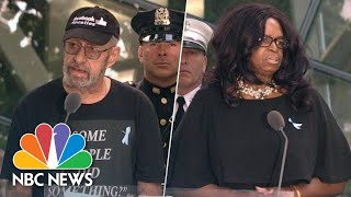 Name-Readers At 9/11 Ceremony Criticize Representative Ilhan Omar, Call For Gun Control | NBC News