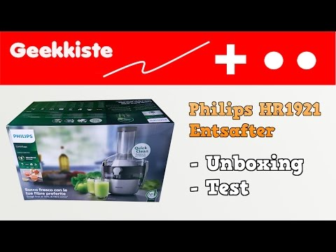 Philips Juicer Hr1854 Unboxing Test