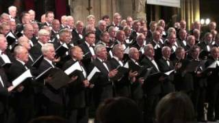 Groot nederlands mannenkoor in de Notre Dame Parijs 2009