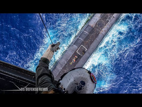 This Is How America's Nuclear-Submarine get Resupplied at Sea