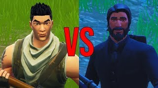 FORTNITE | DEFAULT VS PLAYER WITH SKIN! * HE'S GOT A BAD BEATING *
