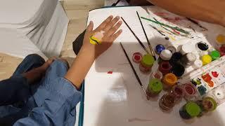 Kids tattoo with acrylic paints |how to make kids tattoo| NAYLA zehra