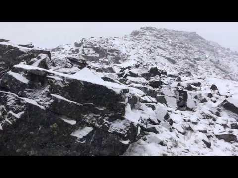Кировск. Горы. Когда выпал первый снег. Хибины