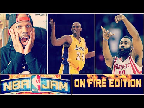 KOBE SHOOTS AIR BALLS! NBA JAM ON FIRE EDITION! #3 - JAMES HARDEN COOKING