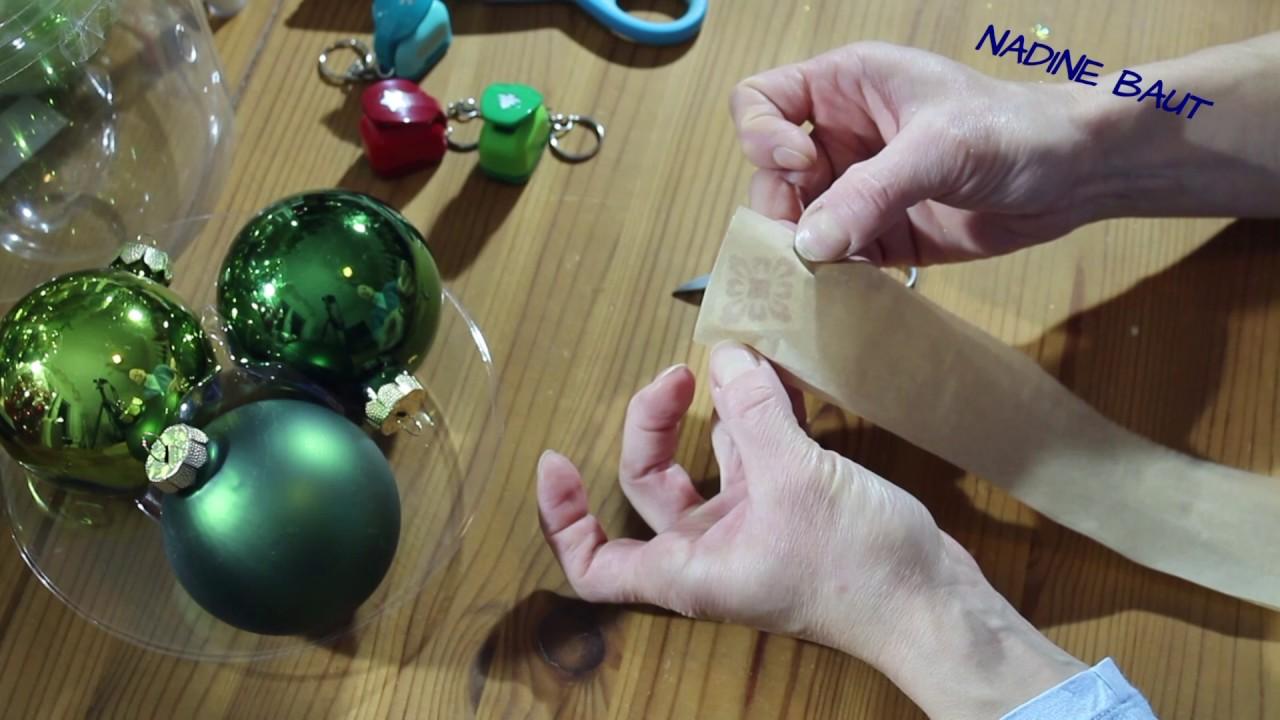 Weihnachtsdeko weihnachtskugeln diy youtube for Youtube weihnachtsdeko