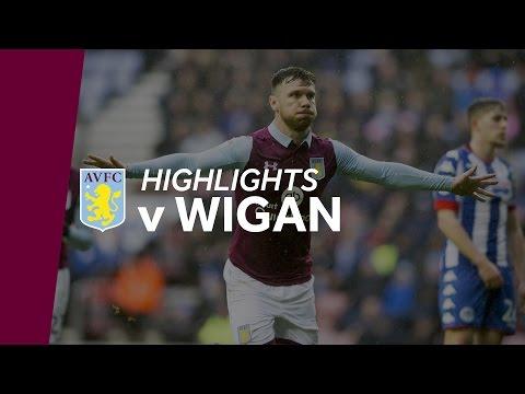 Wigan Athletic 0-2 Aston Villa   Highlights