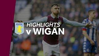 Wigan Athletic 0-2 Aston Villa | Highlights
