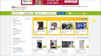 Bei Ebay Kleinanzeigen registrieren und anmelden - Eine Anleitung für absolute Anfänger