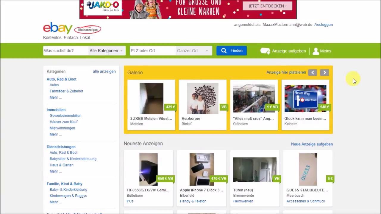 Registrieren Ebay Kleinanzeigen