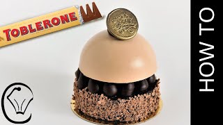 Toblerone Brownie Cheesecake Mousse Dome Entremet by Cupcake Savvy