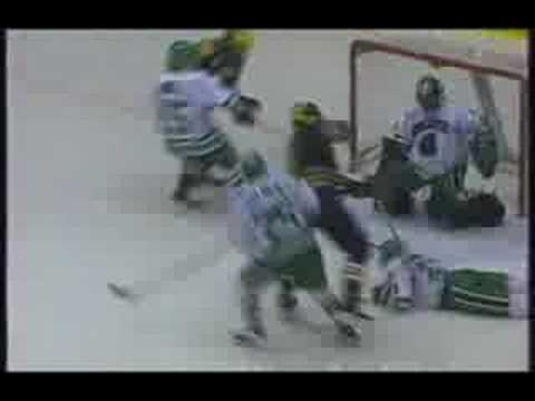 Greg Crozier scores against North Dakota