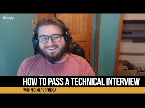 How To Ace A Technical Interview With Nicholas Spinosa
