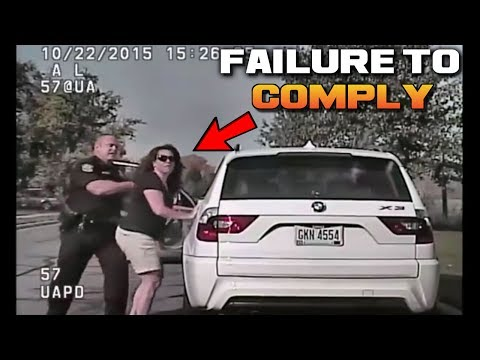 (CRAZY!) Psycho White Lady Can't Handle Traffic Ticket | Failure to Comply: Stupid People FAIL