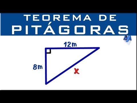 Teorema de Pitágoras   Encontrar la hipotenusa