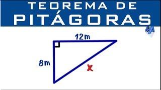 Teorema de Pitágoras | Encontrar la hipotenusa