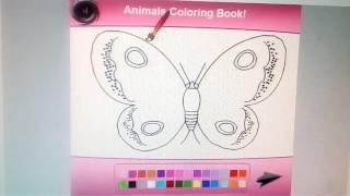 Детская игра ,раскраска бабочка