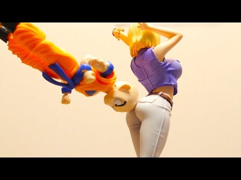DRAGON BALL STOP MOTION ANDROID #18 & KRILLIN DRAGON BALL GALS VER3