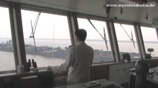 Yangtze River Cruise, on the bridge of Princess Elaine - China Travel Channel