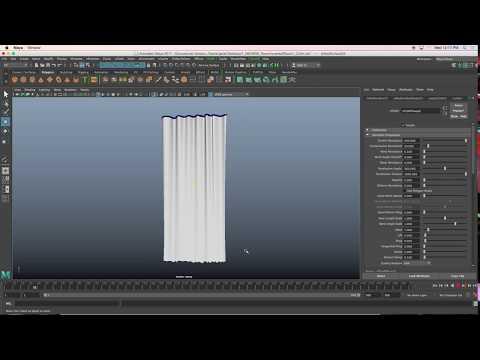 How to create an N-Cloth curtain in Maya2017