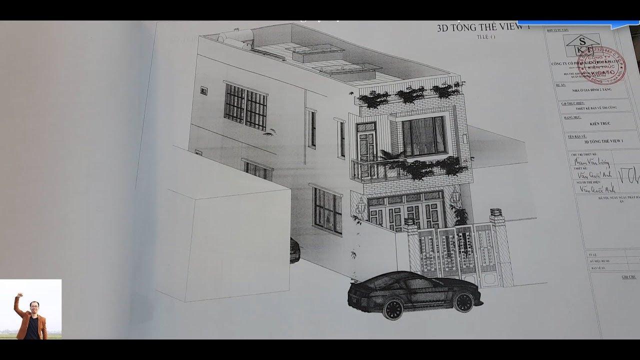 Bản Vẽ Mẫu Nhà 2 Tầng Đẹp Tại Thanh Hóa Làm Bằng Revit 2017-2018-2019