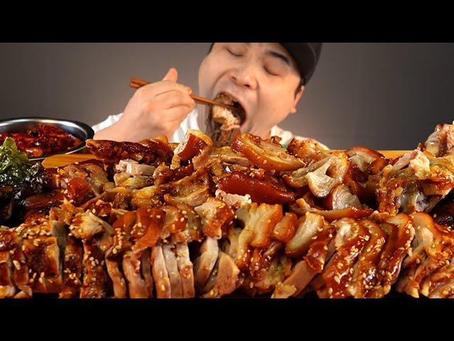 쫄깃쫄깃한 족발과 막국수, 어리굴젓 먹방~!! 리얼사운드 ASMR social eating Mukbang(Eating Show)