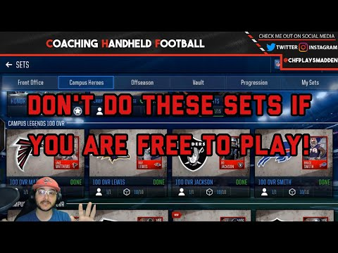WHAT CAMPUS HEROES SETS TO IGNORE IF YOU ARE FREE TO PLAY! Plus viewer requested plays!