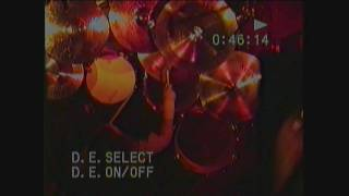 Pearl Jam Wash 1992 live - Dave Abbruzzese 'overhead view'