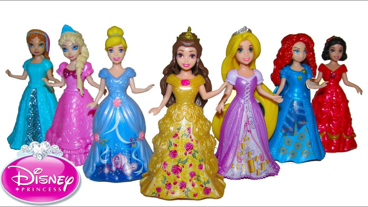 Disney MagiClip Princess Dress Up Cinderella Belle Elsa Anna Magic Clip  Glitter Glider